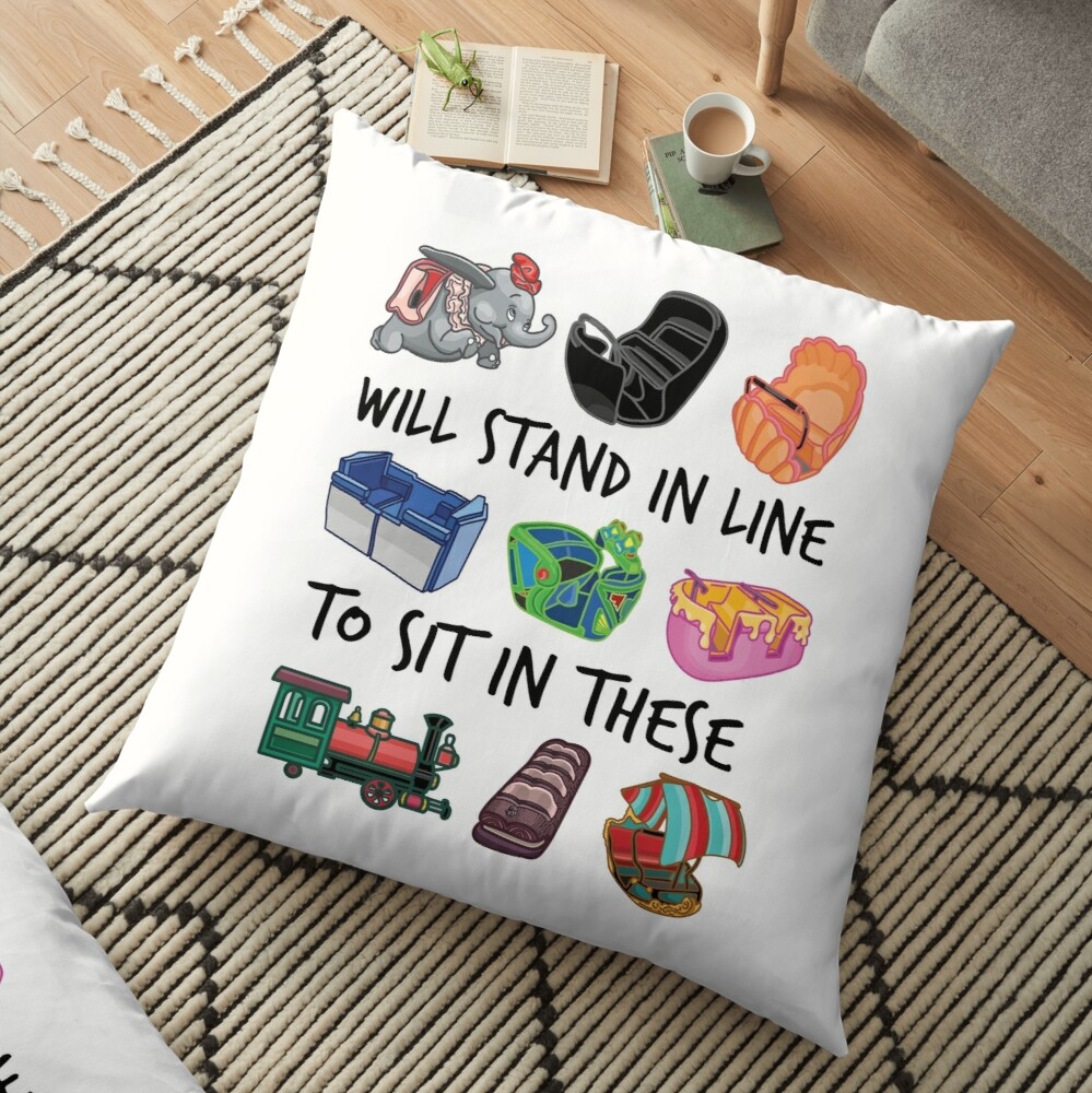 Ride Vehicles (with Caption) Floor Pillow