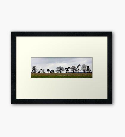 Line of Trees Framed Print