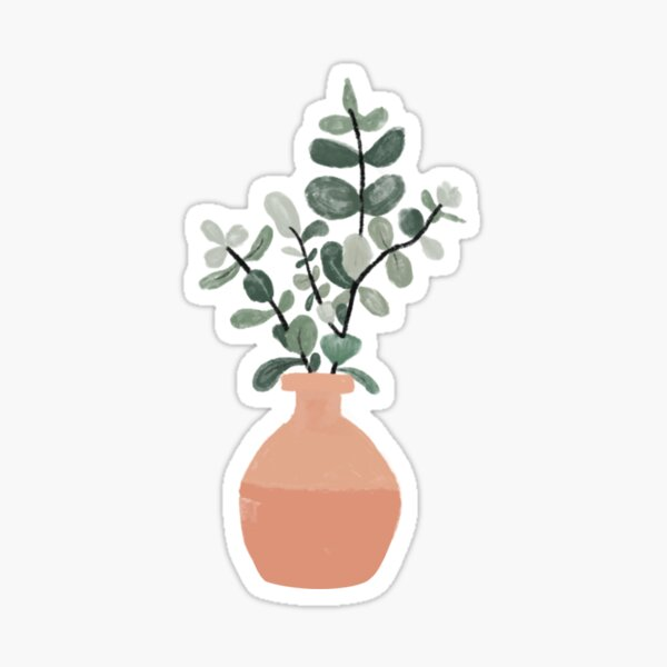 Cute potted plant Sticker