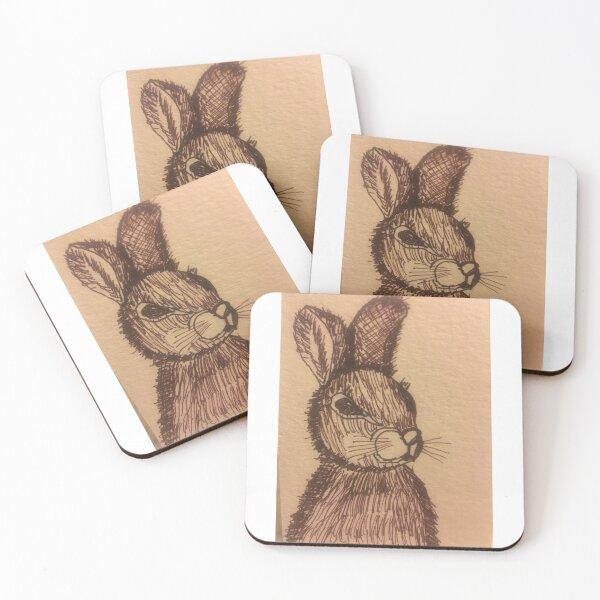 Rabbit by Tola  Coasters (Set of 4)