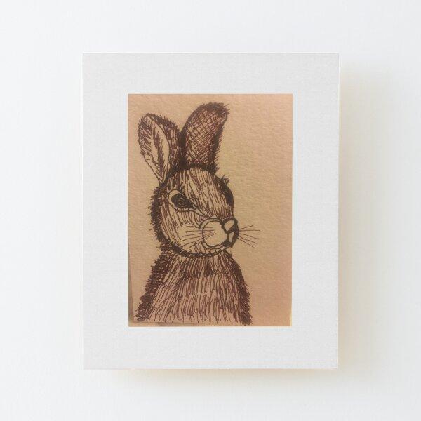 Rabbit by Tola  Wood Mounted Print