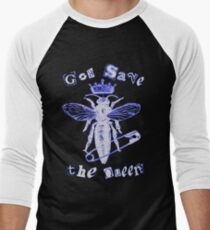 God Save The Queen BW Men's Baseball ¾ T-Shirt