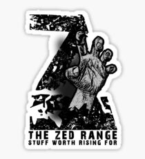 The ZED - RANGE official TEE Sticker