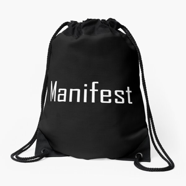 Law of Attraction - Manifest (Reverse Black) Drawstring Bag