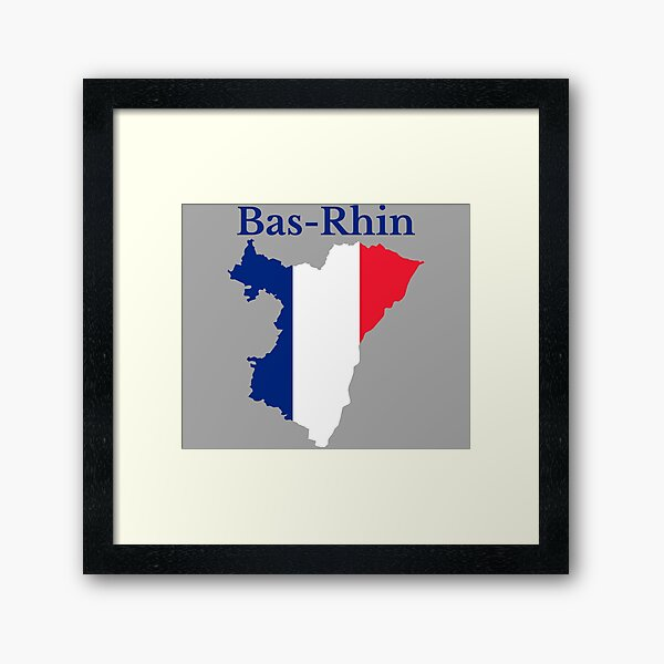 Carte du Bas-Rhin, France, Département français Impression encadrée