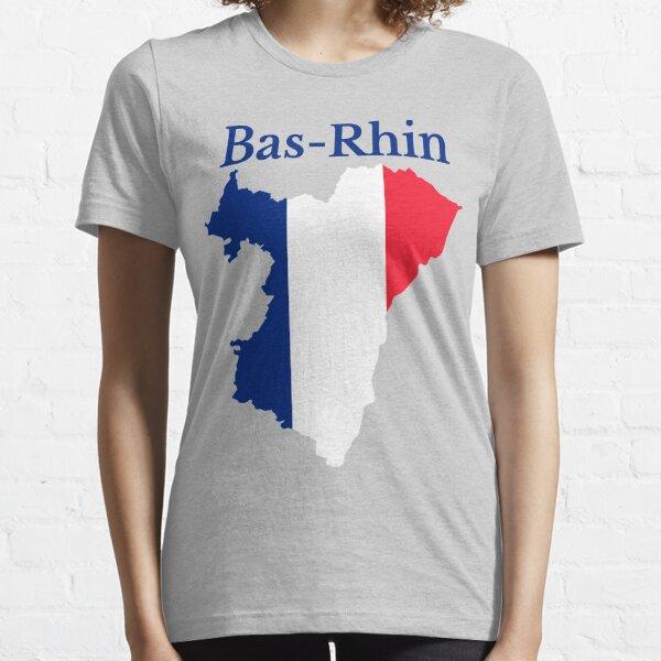 Carte du Bas-Rhin, France, Département français T-shirt essentiel