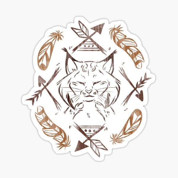 Boho Lynx Sticker