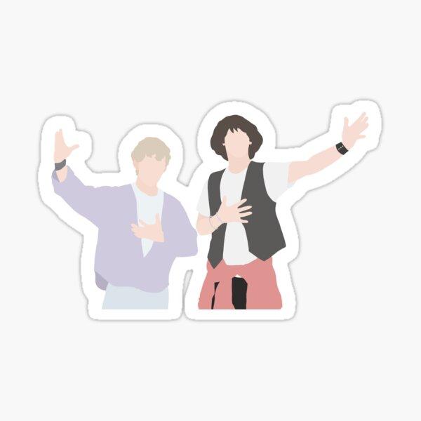 Bill and Ted Sticker Sticker