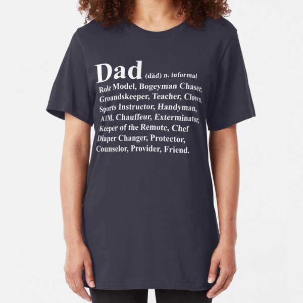 Funny Dad Definition Slim Fit T-Shirt