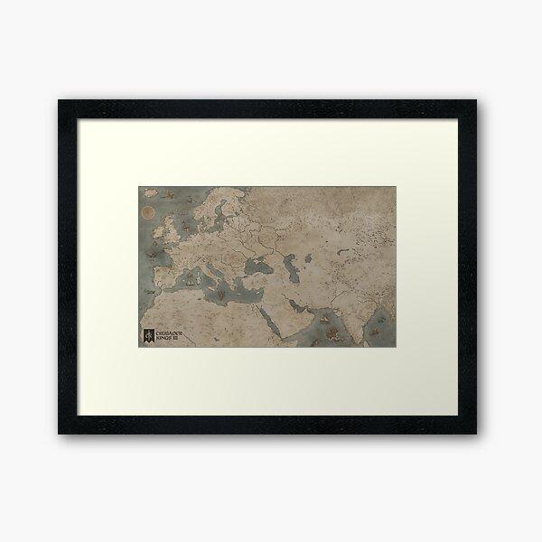 Crusader Kings Map Fan Art Framed Art Print