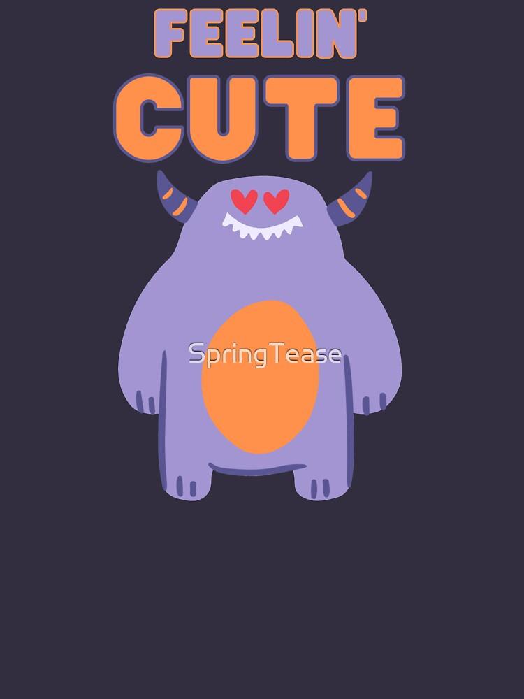 Feelin' Cute Purple Monster by SpringTease