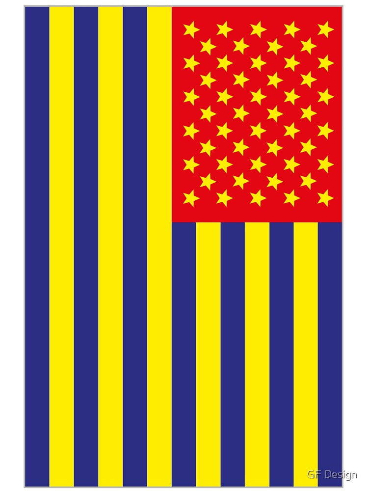US Flag Romania by GF Design