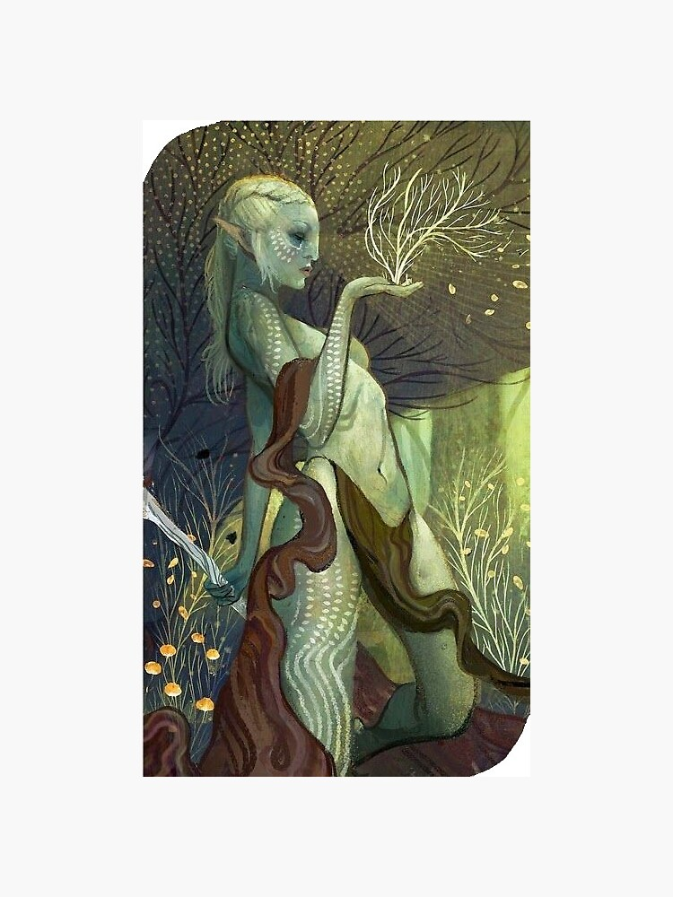Dragon Age Inquisition Female Elf Tarot card by peachygoose