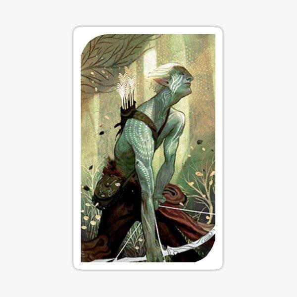 Dragon Age Inquisition Male Elf Tarot card Sticker