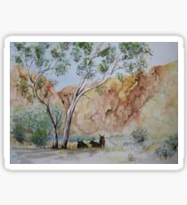 Afternoon Shade Watercolour Painting  Sticker