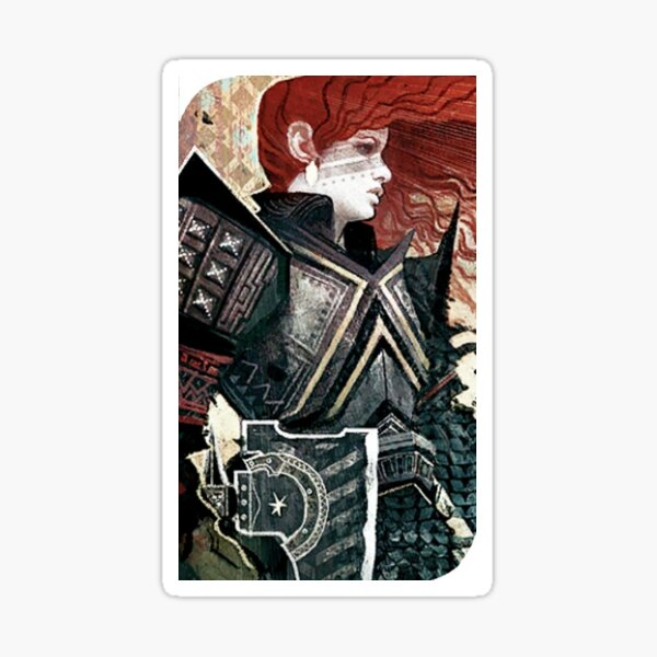 Dragon Age Inquisition Female Dwarf Tarot card Sticker