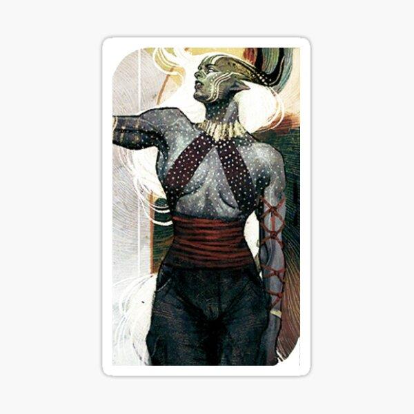 Dragon Age Inquisition Female Qunari Tarot card Sticker