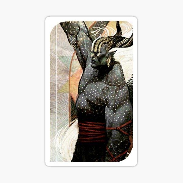 Dragon Age Inquisition Male Qunari Tarot card Sticker