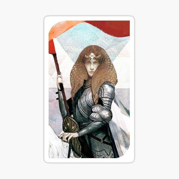 Dragon Age Inquisition Female Human Tarot card Sticker