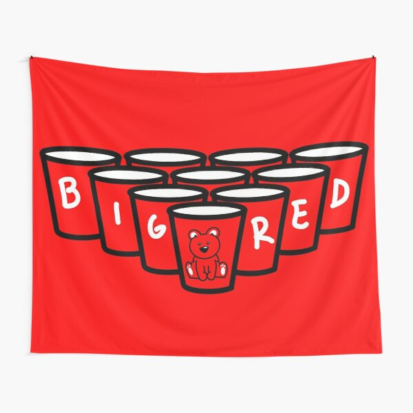 Big Red Beer Pong Tapestry