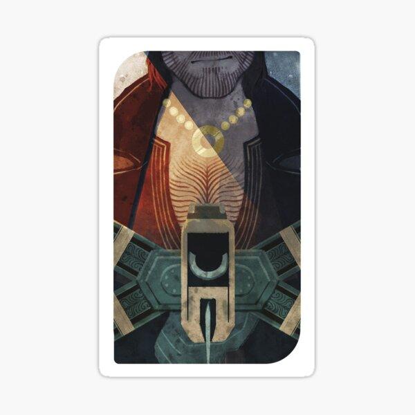 Dragon Age Inquisition Varric Tarot card Sticker
