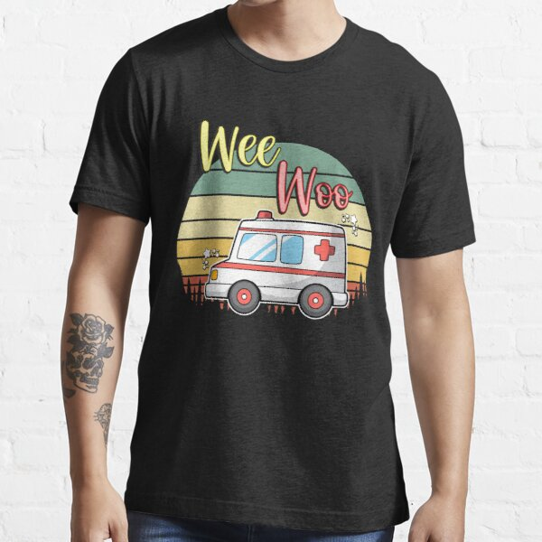 Wee Woo Funny Ambulance Paramedics First Responder Souvenirs Essential T-Shirt