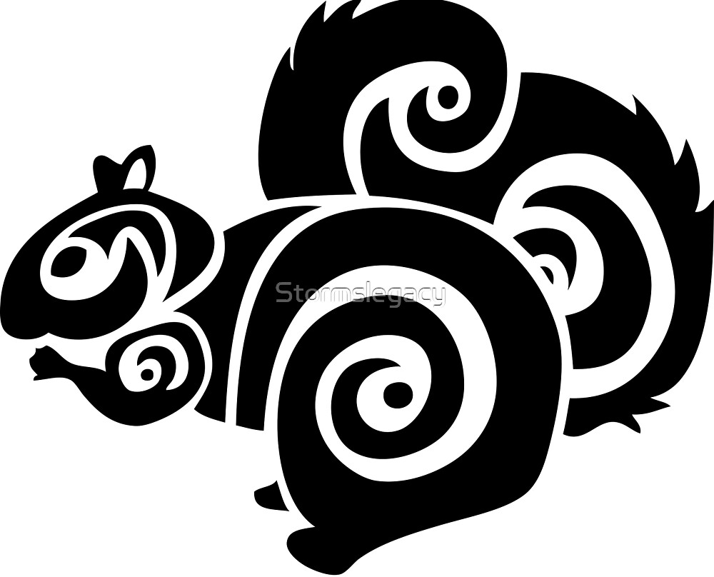 Fluffy Squirrel Tribal by Stormslegacy