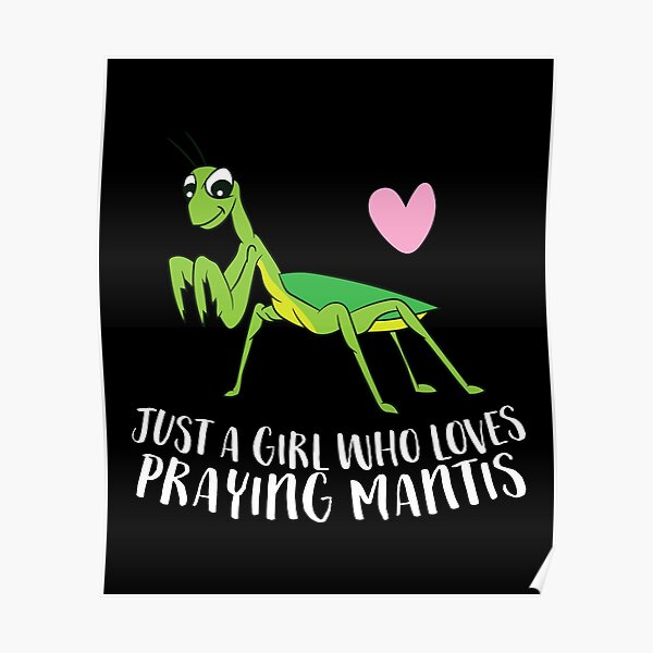 Just a Girl Who Loves Praying Mantis Poster