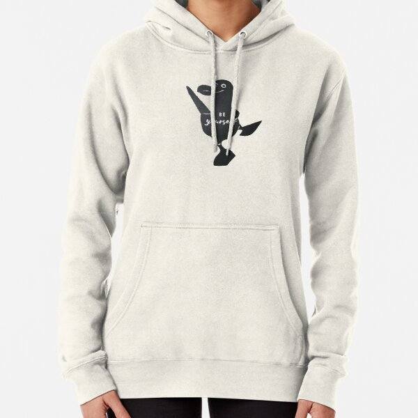 Be Yourself Screen-printed Blue-Footed Booby Bird by Christie Olstad Pullover Hoodie