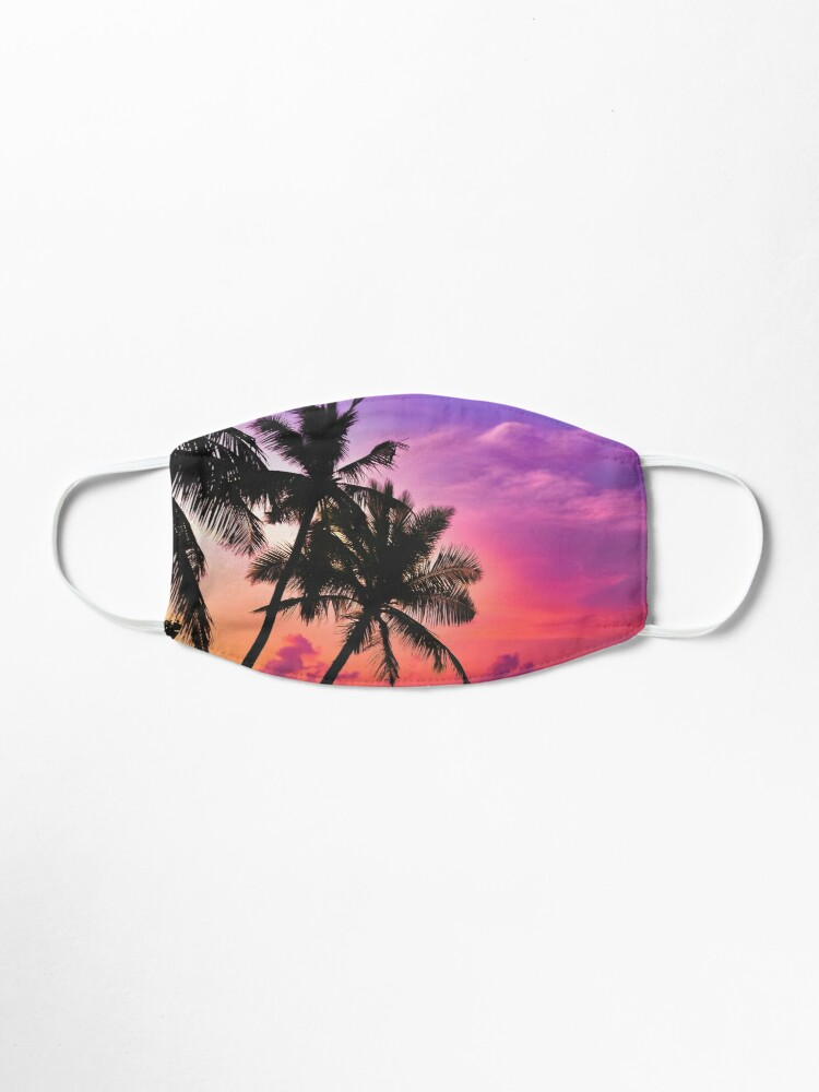 Alternate view of Beautiful Tropical Pink Sunset  Mask