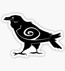 Tribal Raven Sticker