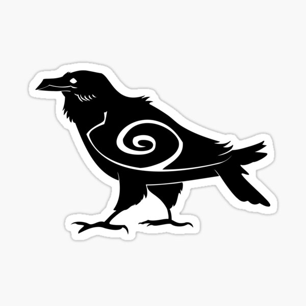 Tribal Raven Sticker