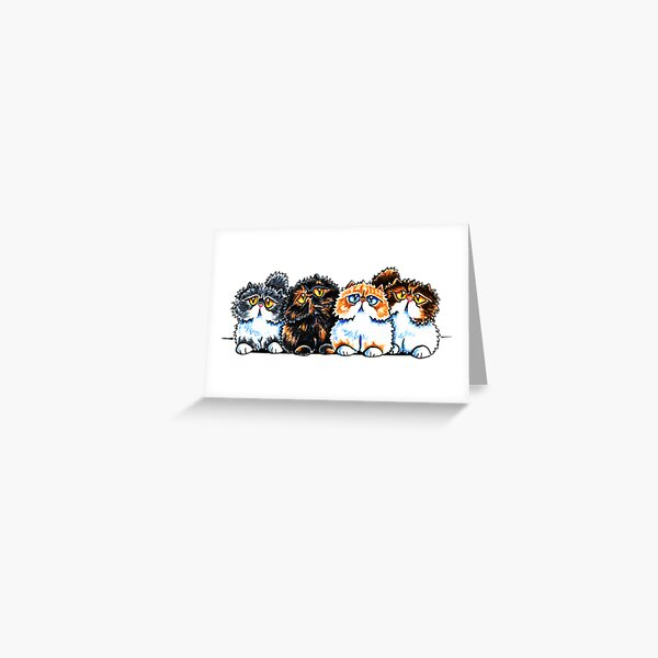 Exotic Foursome Greeting Card