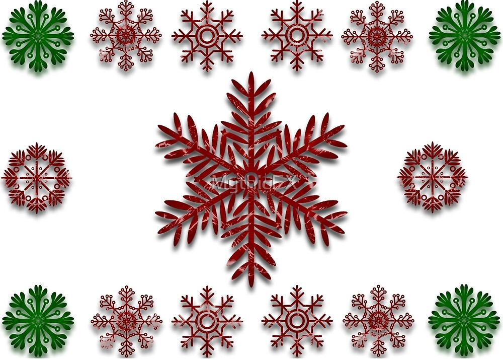 Quilted Snowflakes by MythicFX