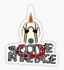 Face McShooty- Borderlands 2 (Simplified Face&Quote) Sticker