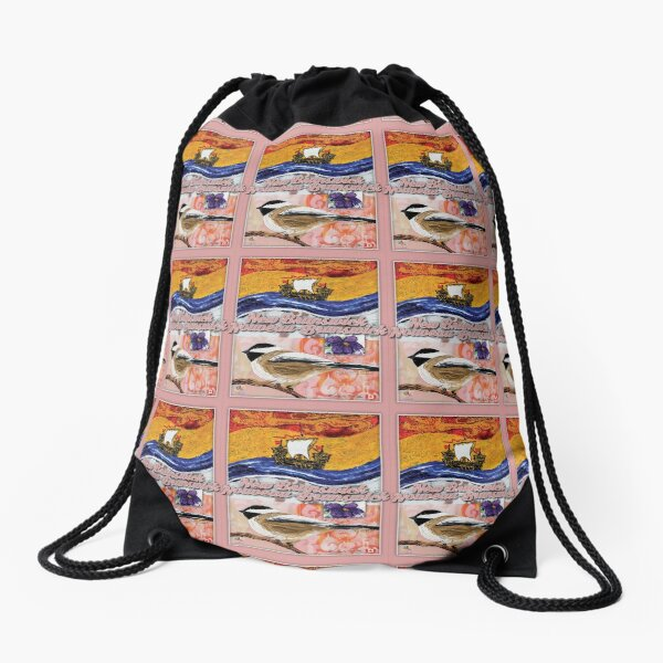 New Brunswick-Nouveau Brunswick Drawstring Bag