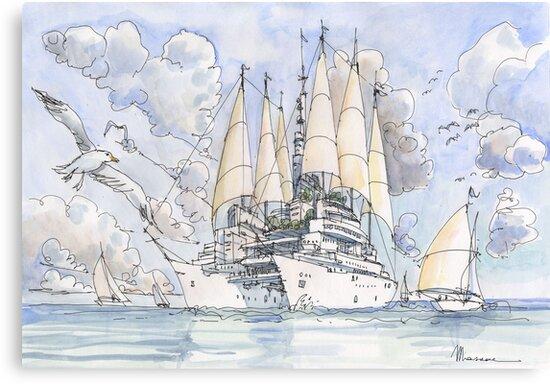 La Citta' Nave! by Luca Massone  disegni