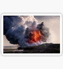 Kilauea Volcano at Kalapana 8 Sticker