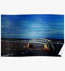 Bridge to Nowhere, Belhaven Bay, East Lothian and Bass Rock Poster
