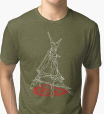 """""""Kids In The Woods"""" White Tri-blend T-Shirt"""