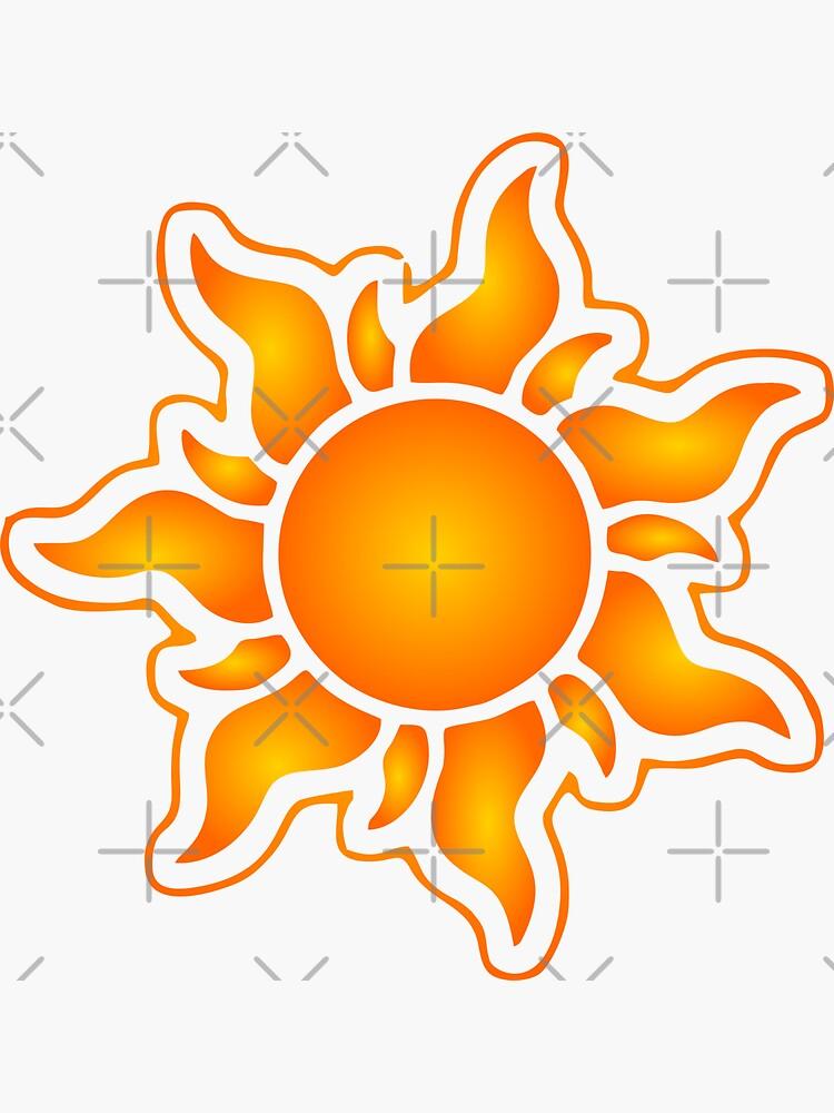 Sun Sticker Design by carlarmes