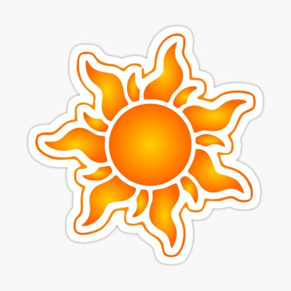 Sun Sticker Design Sticker