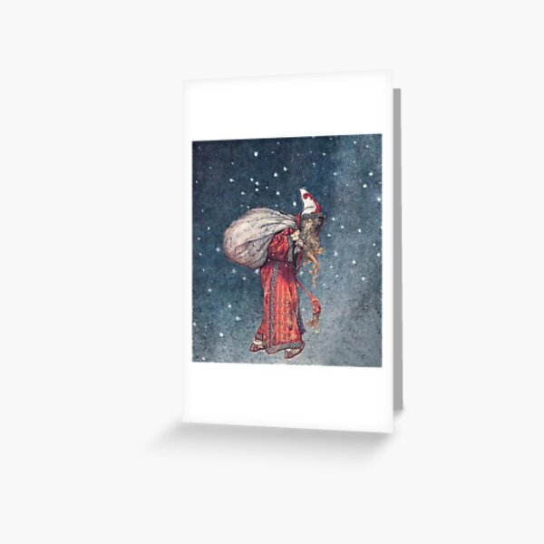 Arthur Rackham: Santa Claus Greeting Card