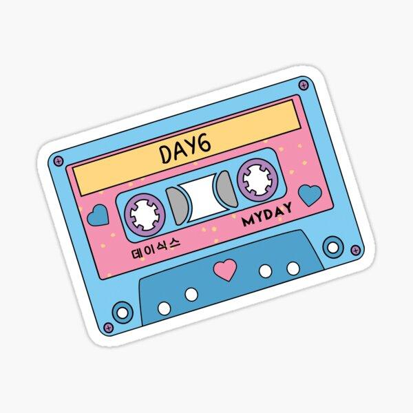 DAY6 Myday CUTE Cinta de casete retro pastel azul rosa Pegatina