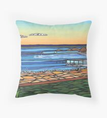 Grandma's Pool  Throw Pillow