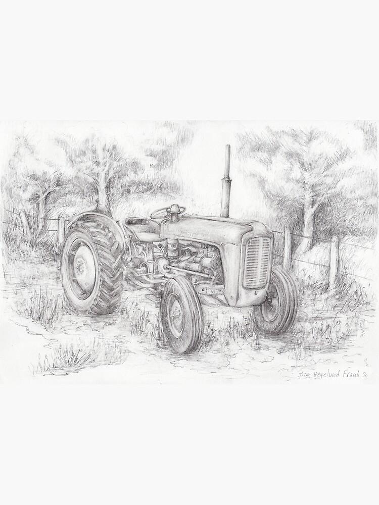 Massey Ferguson 35 tractor drawing by Eva-Hegelund
