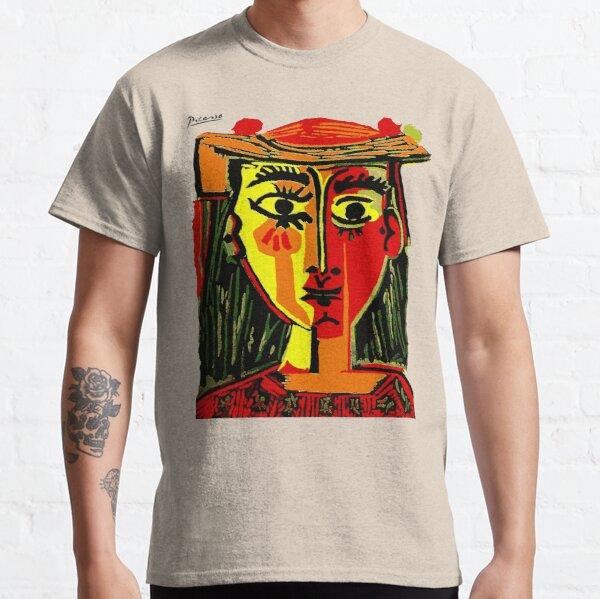 Pablo Picasso Woman In A Hat 1962 T Shirt, Artwork, tshirt, tee, jersey, poster, artwork Classic T-Shirt