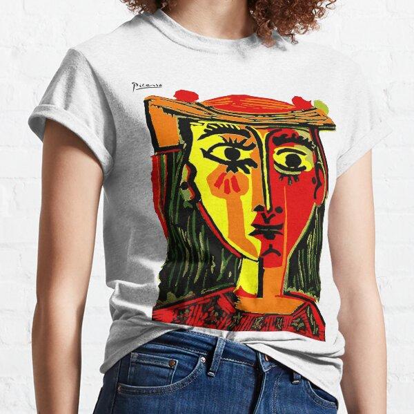 Pablo Picasso femme dans un chapeau 1962 T Shirt, oeuvre, tshirt, tee, jersey, affiche, oeuvre d'art T-shirt classique
