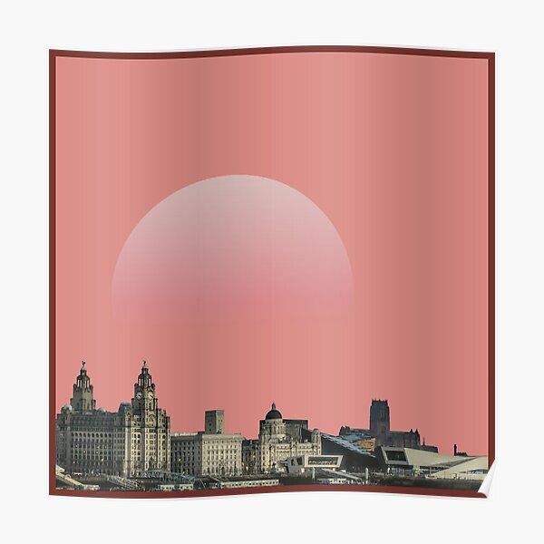 liverpool pink moon wall art Poster