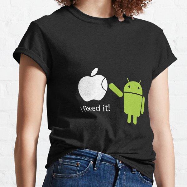 """Lo arreglé"" - Android vs Apple Camiseta clásica"